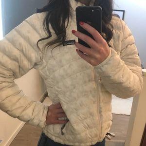 White Patagonia Down Puffer Jacket
